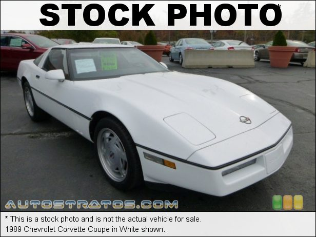 Stock photo for this 1989 Chevrolet Corvette Coupe 5.7 Liter OHV 16-Valve L98 V8 4 Speed Automatic
