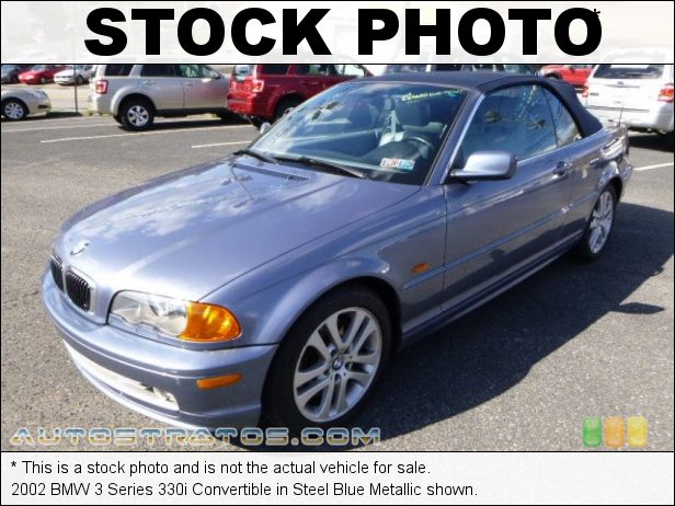 Stock photo for this 2002 BMW 3 Series 330i Convertible 3.0L DOHC 24V Inline 6 Cylinder 5 Speed Automatic