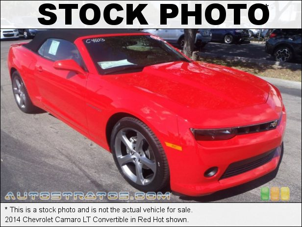 Stock photo for this 2014 Chevrolet Camaro LT Convertible 3.6 Liter DI DOHC 24-Valve VVT V6 6 Speed Automatic