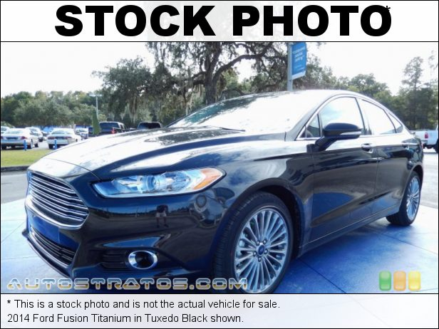 Stock photo for this 2014 Ford Fusion Titanium 2.0 Liter GTDI EcoBoost Turbocharged DOHC 16-Valve Ti-VCT 4 Cyli 6 Speed SelectShift Automatic