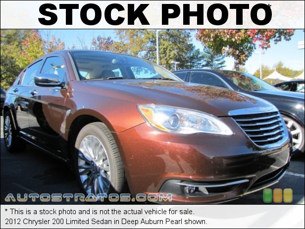 Stock photo for this 2012 Chrysler 200 Limited Sedan 3.6 Liter DOHC 24-Valve VVT Pentastar V6 6 Speed AutoStick Automatic