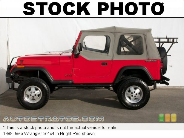 Stock photo for this 1990 Jeep Wrangler S 4x4 2.4 Liter TPI 4 Cylinder 5 Speed Manual