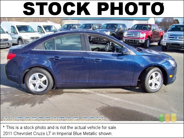 Stock photo for this 2011 Chevrolet Cruze LT 1.4 Liter Turbocharged DOHC 16-Valve VVT ECOTEC 4 Cylinder 6 Speed Automatic