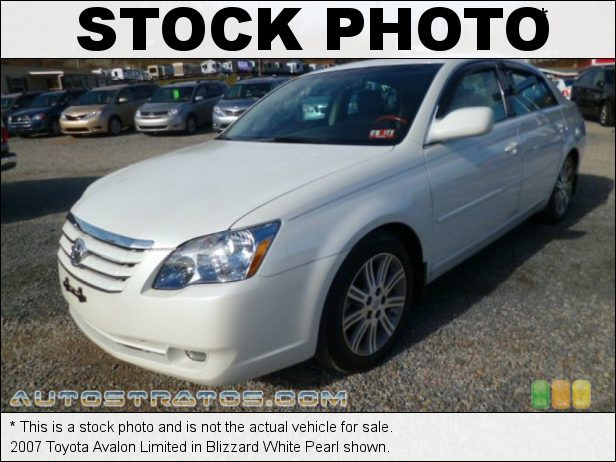 Stock photo for this 2007 Toyota Avalon Limited 3.5L DOHC 24V VVT-i V6 5 Speed Sequential Shift Automatic