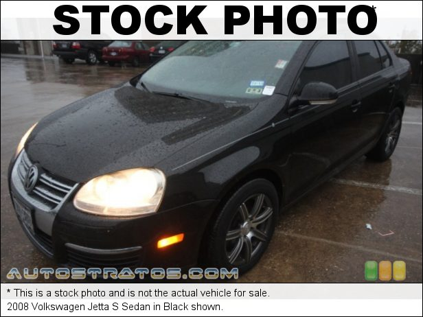 Stock photo for this 2008 Volkswagen Jetta S Sedan 2.5 Liter DOHC 20-Valve 5 Cylinder 6 Speed Tiptronic Automatic