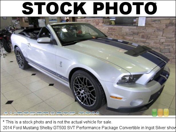Stock photo for this 2014 Ford Mustang Shelby GT500 SVT Performance Package Convertible 5.8 Liter SVT Supercharged DOHC 32-Valve Ti-VCT V8 6 Speed Manual