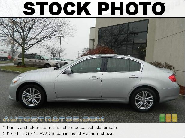 Stock photo for this 2013 Infiniti G 37 Sedan 3.7 Liter DOHC 24-Valve CVTCS V6 7 Speed ASC Automatic