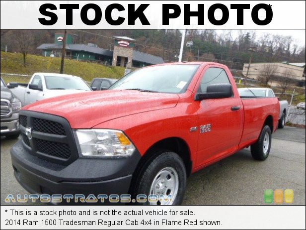 Stock photo for this 2014 Ram 1500 Tradesman Regular Cab 4x4 5.7 Liter HEMI OHV 16-Valve VVT MDS V8 6 Speed Automatic