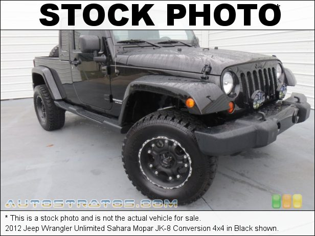 Stock photo for this 2012 Jeep Wrangler Unlimited 4x4 3.6 Liter DOHC 24-Valve VVT Pentastar V6 5 Speed Automatic