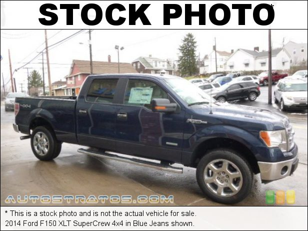 Stock photo for this 2014 Ford F150 XLT SuperCrew 4x4 3.5 Liter EcoBoost DI Turbocharged DOHC 24-Valve Ti-VCT V6 6 Speed Automatic