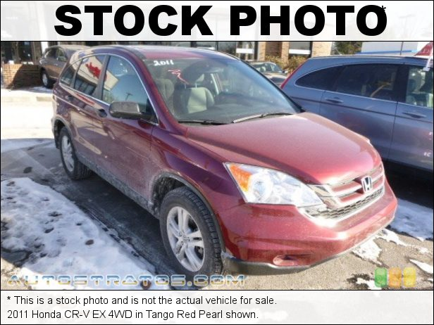 Stock photo for this 2011 Honda CR-V EX 4WD 2.4 Liter DOHC 16-Valve i-VTEC 4 Cylinder 5 Speed Automatic