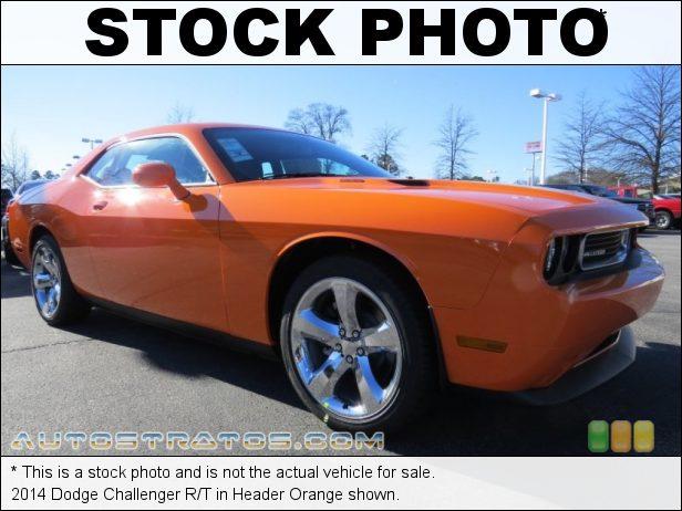Stock photo for this 2014 Dodge Challenger R/T 5.7 Liter HEMI OHV 16-Valve VVT V8 6 Speed Manual