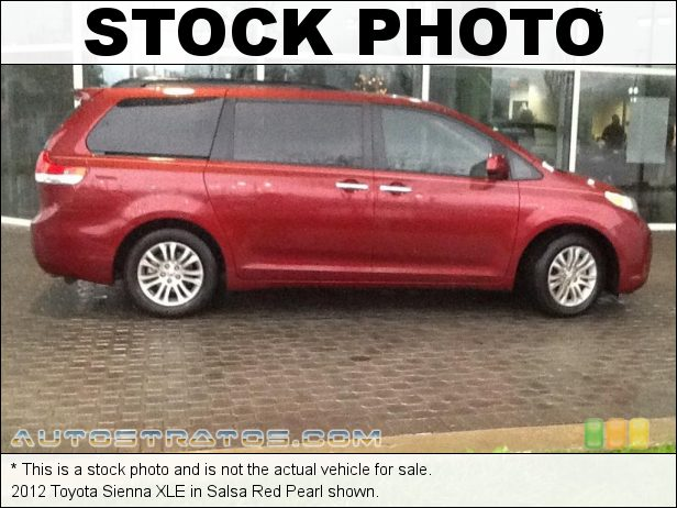 Stock photo for this 2012 Toyota Sienna XLE 3.5 Liter DOHC 24-Valve Dual VVT-i V6 6 Speed ECT-i Automatic