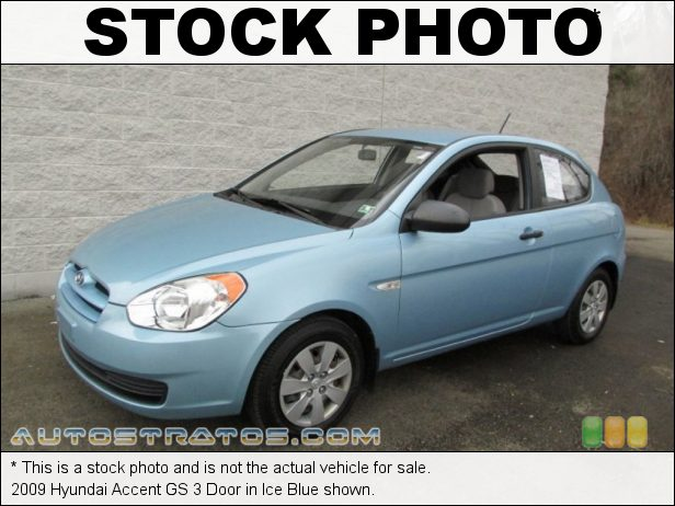 Stock photo for this 2009 Hyundai Accent GS 3 Door 1.6 Liter DOHC-16 Valve CVVT 4 Cylinder 4 Speed Automatic