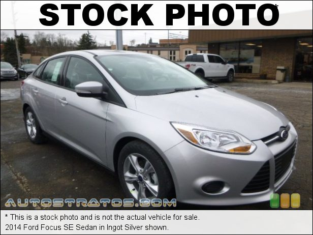 Stock photo for this 2014 Ford Focus SE Sedan 2.0 Liter GDI DOHC 16-Valve Ti-VCT Flex-Fuel 4 Cylinder 5 Speed Manual