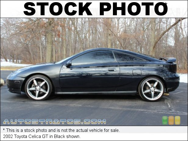 Stock photo for this 2002 Toyota Celica GT 1.8 Liter DOHC 16-Valve 4 Cylinder 4 Speed Automatic