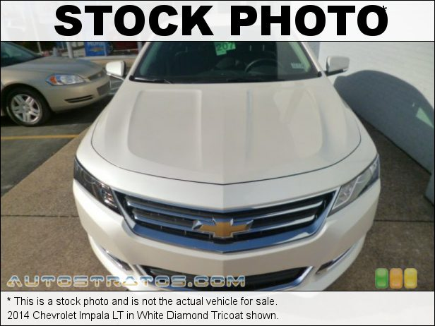 Stock photo for this 2014 Chevrolet Impala LT 2.5 Liter DI DOHC 16-Valve iVVL ECOTEC 4 Cylinder 6 Speed Automatic