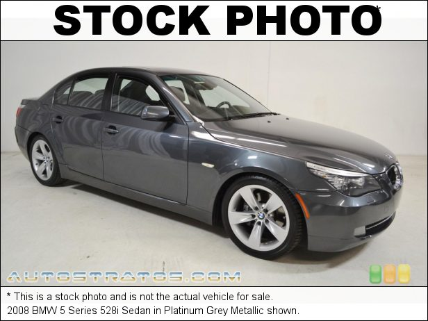 Stock photo for this 2008 BMW 5 Series 528i Sedan 3.0L DOHC 24V VVT Inline 6 Cylinder 6 Speed Steptronic Automatic