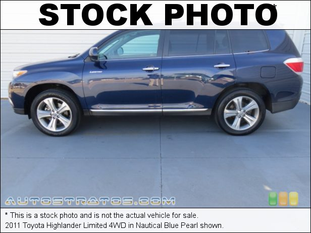 Stock photo for this 2011 Toyota Highlander Limited 4WD 3.5 Liter DOHC 24-Valve Dual VVT-i V6 5 Speed ECT-i Automatic