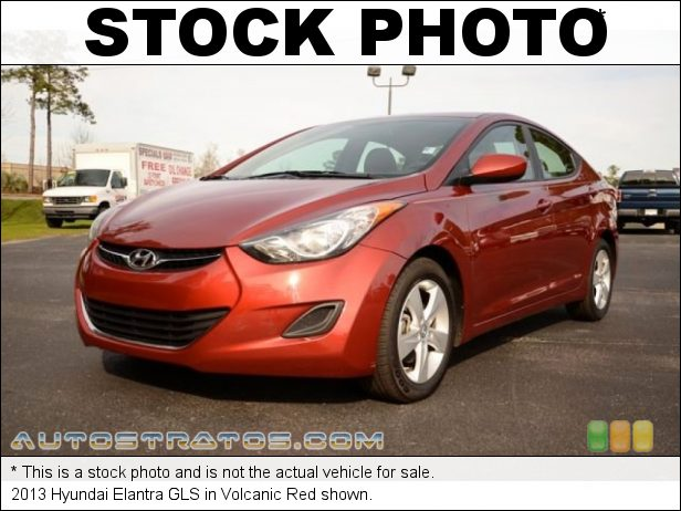 Stock photo for this 2013 Hyundai Elantra  1.8 Liter DOHC 16-Valve D-CVVT 4 Cylinder 6 Speed Shiftronic Automatic