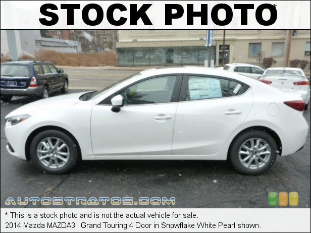 Stock photo for this 2014 Mazda MAZDA3 i Grand Touring 4 Door 2.0 Liter SKYACTIV-G DI DOHC 16-valve VVT 4 Cyinder SKYACTIV-Drive 6 Speed Automatic