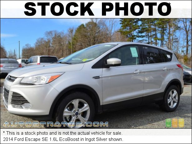 Stock photo for this 2014 Ford Escape SE 1.6L EcoBoost 1.6 Liter GTDI Turbocharged DOHC 16-Valve Ti-VCT EcoBoost 4 Cyli 6 Speed SelectShift Automatic
