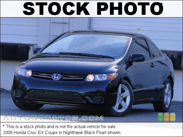Stock photo for this 2008 Honda Civic EX Coupe 1.8 Liter SOHC 16-Valve 4 Cylinder 5 Speed Automatic
