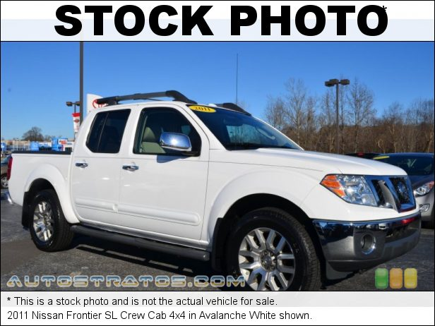 Stock photo for this 2011 Nissan Frontier SL Crew Cab 4x4 4.0 Liter DOHC 24-Valve CVTCS V6 5 Speed Automatic