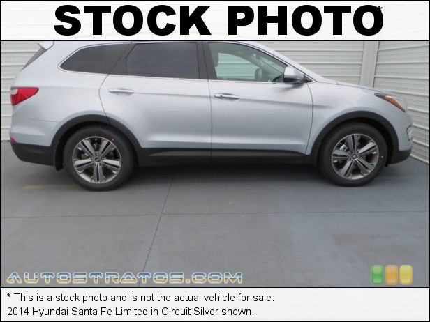 Stock photo for this 2014 Hyundai Santa Fe Limited 3.3 Liter GDI DOHC 24-Valve CVVT V6 6 Speed SHIFTRONIC Automatic