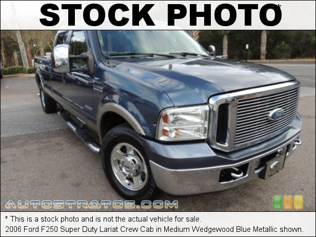 Stock photo for this 2006 Ford F250 Super Duty Lariat Crew Cab 6.0 Liter OHV 32 Valve Power Stroke Turbo Diesel V8 5 Speed Automatic