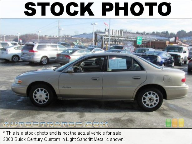 Stock photo for this 2000 Buick Century Custom 3.1 Liter OHV 12-Valve V6 4 Speed Automatic