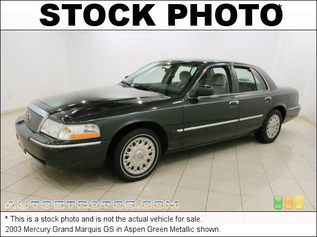Stock photo for this 2003 Mercury Grand Marquis GS 4.6 Liter SOHC 16-Valve V8 4 Speed Automatic