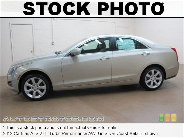 Stock photo for this 2013 Cadillac ATS 2.0L Turbo Performance AWD 2.0 Liter DI Turbocharged DOHC 16-Valve VVT 4 Cylinder 6 Speed Hydra-Matic Automatic