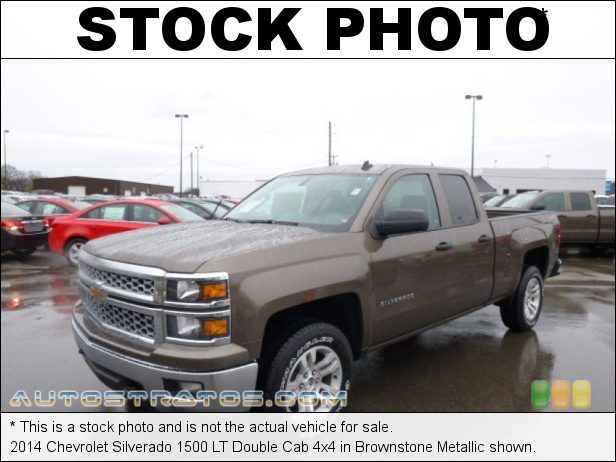 Stock photo for this 2014 Chevrolet Silverado 1500 Double Cab 4x4 5.3 Liter DI OHV 16-Valve VVT EcoTec3 V8 6 Speed Automatic