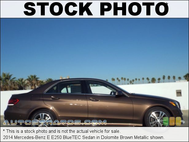 Stock photo for this 2014 Mercedes-Benz E E250 BlueTEC Sedan 2.1 Liter Twin-Turbocharged BlueTEC Diesel DOHC 16-Valve 4 Cylin 7 Speed Automatic