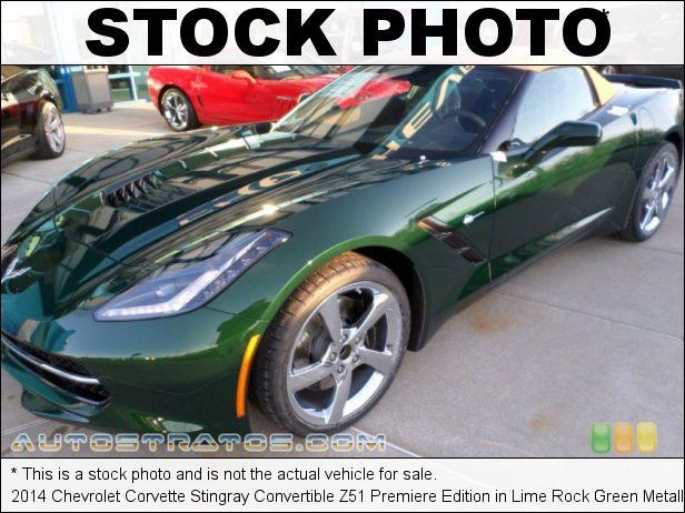 Stock photo for this 2014 Chevrolet Corvette Stingray Convertible Z51 6.2 Liter DI OHV 16-Valve VVT V8 6 Speed Paddle Shift Automatic