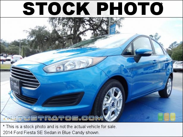 Stock photo for this 2014 Ford Fiesta SE Sedan 1.6 Liter DOHC 16-Valve Ti-VCT 4 Cylinder 6 Speed Automatic