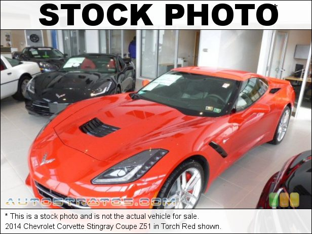 Stock photo for this 2014 Chevrolet Corvette Stingray Coupe Z51 6.2 Liter DI OHV 16-Valve VVT V8 6 Speed Paddle Shift Automatic
