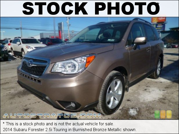 Stock photo for this 2014 Subaru Forester 2.5i Touring 2.5 Liter DOHC 16-Valve VVT Flat 4 Cylinder Lineartronic CVT Automatic
