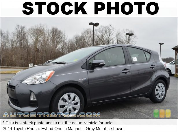 Stock photo for this 2014 Toyota Prius c Hybrid 1.5 Liter DOHC 16-Valve VVT-i 4 Cylinder Gasoline/Electric Hybri ECVT Automatic