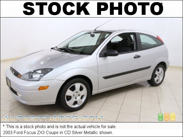 Stock photo for this 2003 Ford Focus ZX3 Coupe 2.0L DOHC 16V Zetec 4 Cylinder 5 Speed Manual
