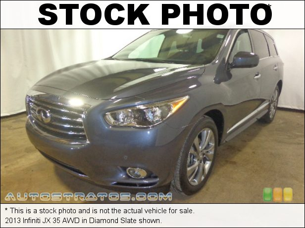 Stock photo for this 2013 Infiniti JX 35 AWD 3.5 Liter DOHC 24-Valve CVTCS V6 CVT Automatic