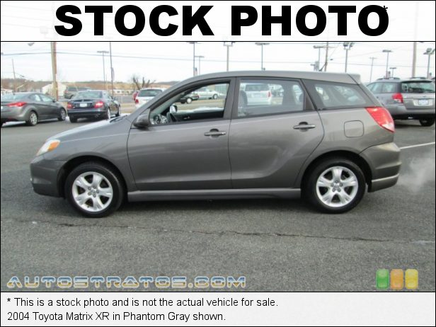 Stock photo for this 2004 Toyota Matrix XR 1.8L DOHC 16V VVT-i 4 Cylinder 4 Speed Automatic