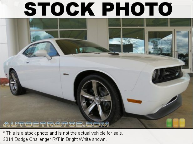 Stock photo for this 2014 Dodge Challenger R/T 5.7 Liter HEMI OHV 16-Valve VVT V8 5 Speed Automatic