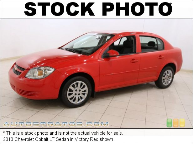 Stock photo for this 2010 Chevrolet Cobalt LT Sedan 2.2 Liter DOHC 16-Valve VVT 4 Cylinder 5 Speed Manual