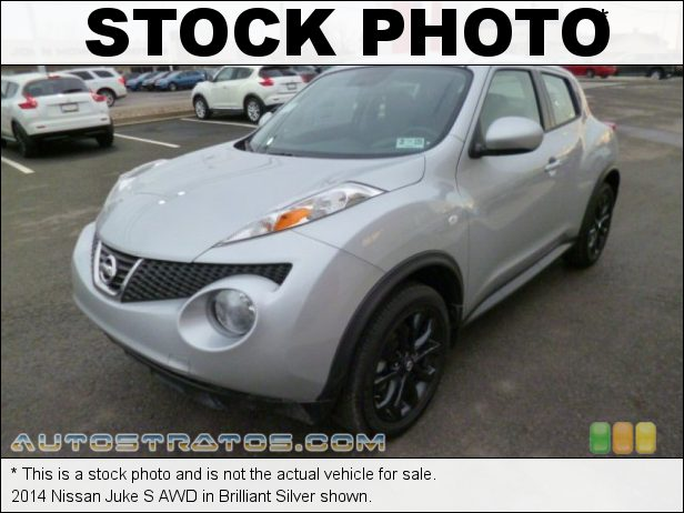 Stock photo for this 2014 Nissan Juke S AWD 1.6 Liter DIG Turbocharged DOHC 16-Valve CVTCS 4 Cylinder Xtronic CVT Automatic