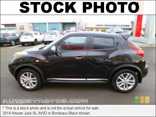 Stock photo for this 2014 Nissan Juke SL AWD 1.6 Liter DIG Turbocharged DOHC 16-Valve CVTCS 4 Cylinder Xtronic CVT Automatic