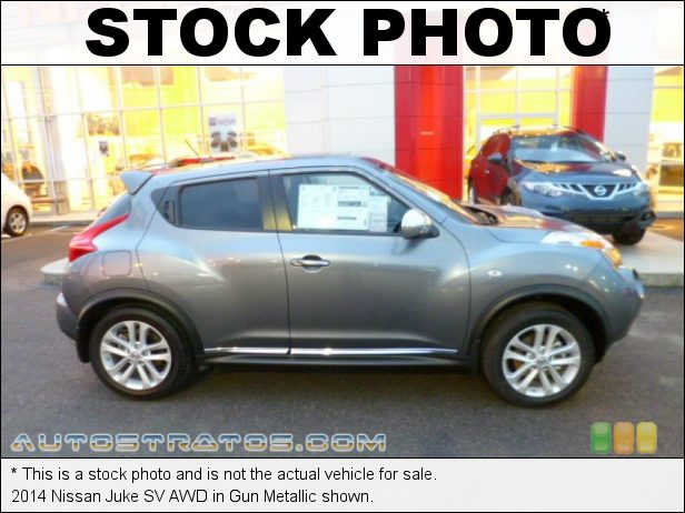 Stock photo for this 2014 Nissan Juke SV AWD 1.6 Liter DIG Turbocharged DOHC 16-Valve CVTCS 4 Cylinder Xtronic CVT Automatic