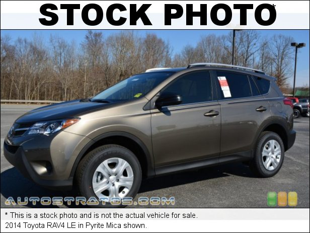 Stock photo for this 2014 Toyota RAV4 LE 2.5 Liter DOHC 16-Valve Dual VVT-i 4 Cylinder 6 Speed ECT-i Automatic