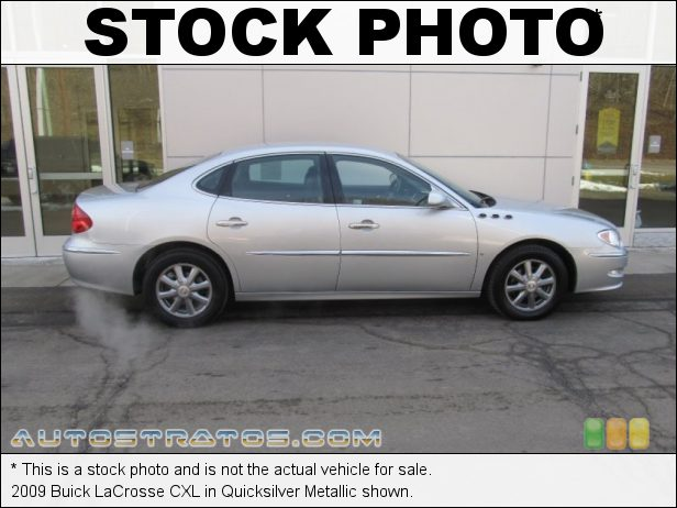 Stock photo for this 2009 Buick LaCrosse CXL 3.8 Liter OHV 12-Valve V6 4 Speed Automatic